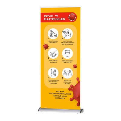 Roll-up banner COVID-19 maatregelen