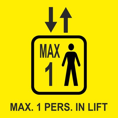 Liftsticker max 1 persoon