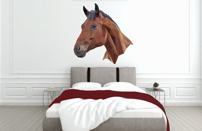 Muursticker slaapkamer paard abstract