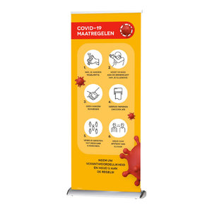 Roll-up banner COVID-19