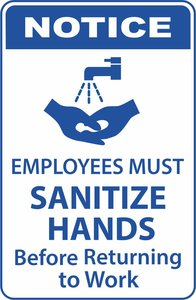 Employees must sanitize