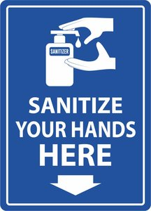 Sticker Sanitize your hands here