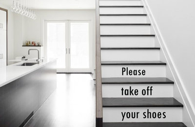 Please take off your shoes trap