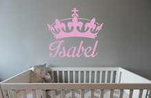 Muursticker babykamer kroon